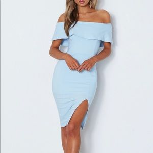 NWT White Fox shoulder dress